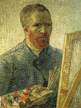 Gogh_self-easel